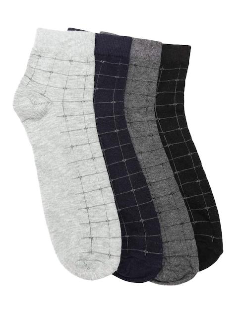 ether Men Pack of 4 Patterned Above Ankle-Length Socks