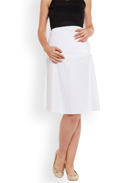 Oxolloxo White Maternity Skirt