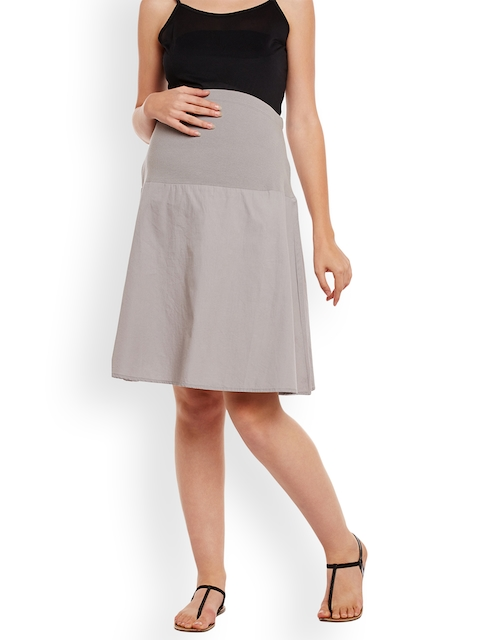 Oxolloxo Grey Maternity Skirt