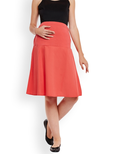 Oxolloxo Red Maternity Skirt