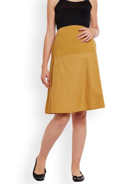 Oxolloxo Mustard Maternity Skirt