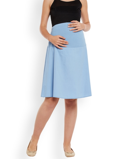 Oxolloxo Blue Maternity Skirt