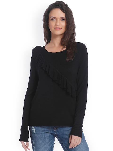 ONLY Women Black Solid Pullover