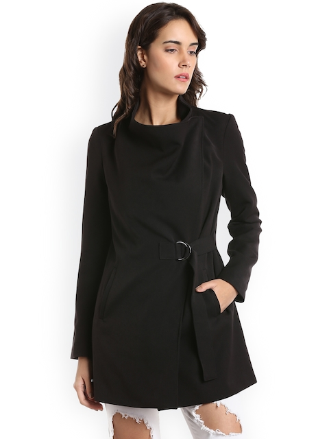 Vero Moda Women Black Solid Tailored Jacket