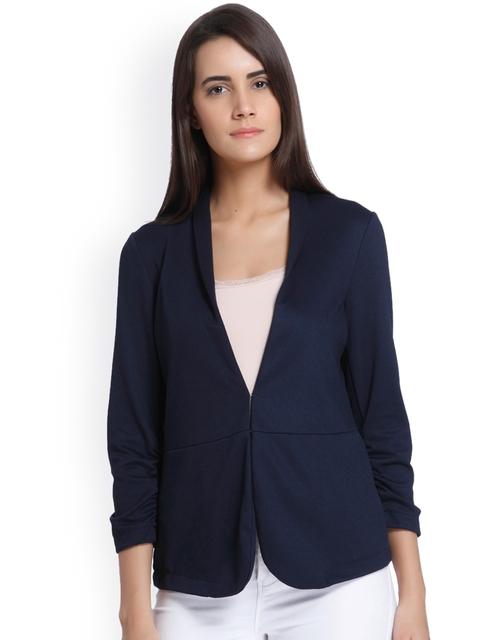 Vero Moda Women Navy Solid Tailored Jacket