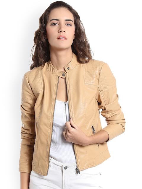 Vero Moda Women Tan Solid Tailored Jacket