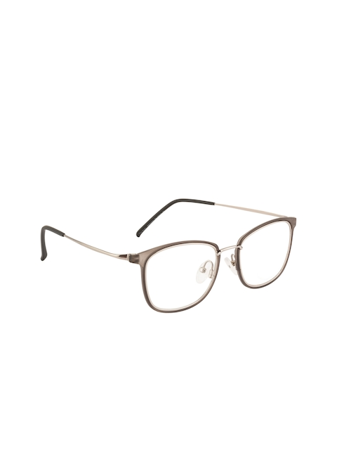 Ted Smith Unisex Grey & Silver-Toned Rectangular Frames TS-TR-9292_C7