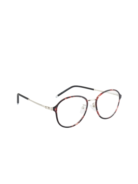 Ted Smith Unisex Brown & Silver-Toned Round Frames TS-TR-9299_C34