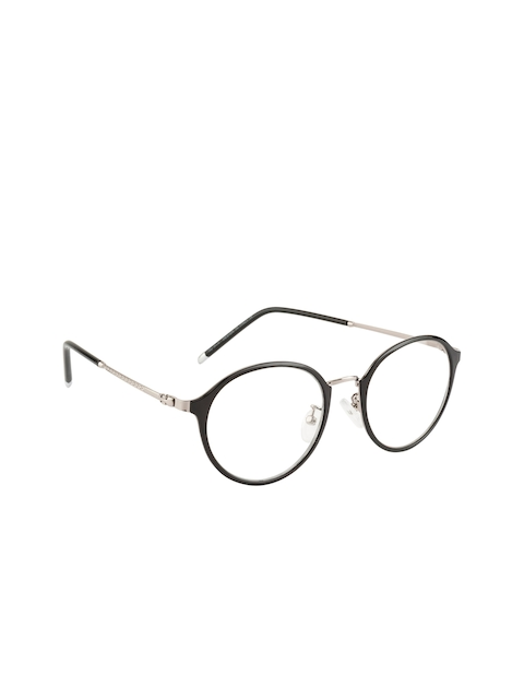 Ted Smith Unisex Black & Silver-Toned Round Frames TS-TR-9300_C1