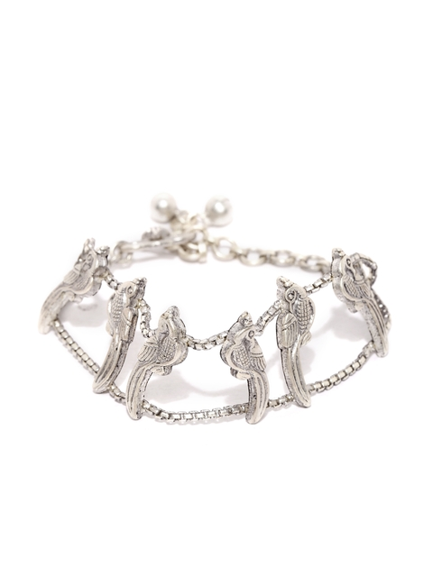 Quirksmith Silver Coterie Link Handcrafted Bracelet