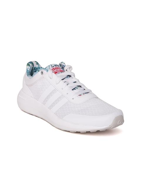 Adidas NEO Women White CF Race Sneakers