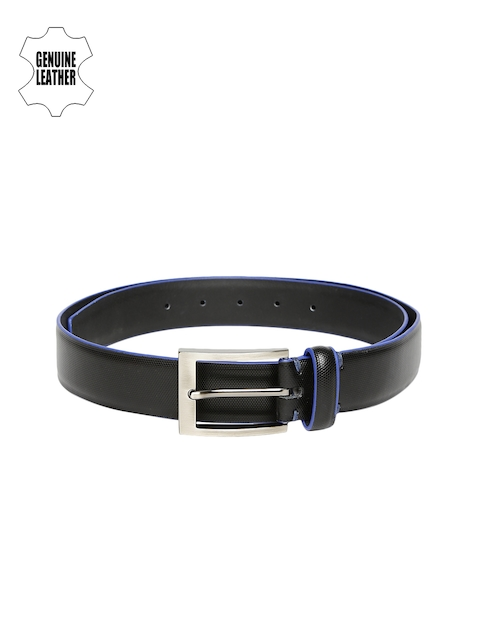 INVICTUS Men Black Genuine Leather Belt
