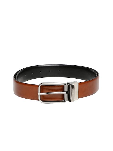 INVICTUS Men Tan Brown & Black Reversible Leather Belt