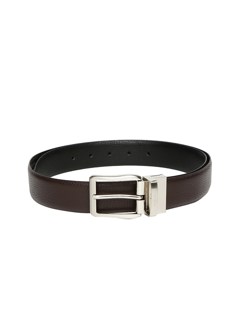 INVICTUS Men Brown & Black Reversible Leather Belt