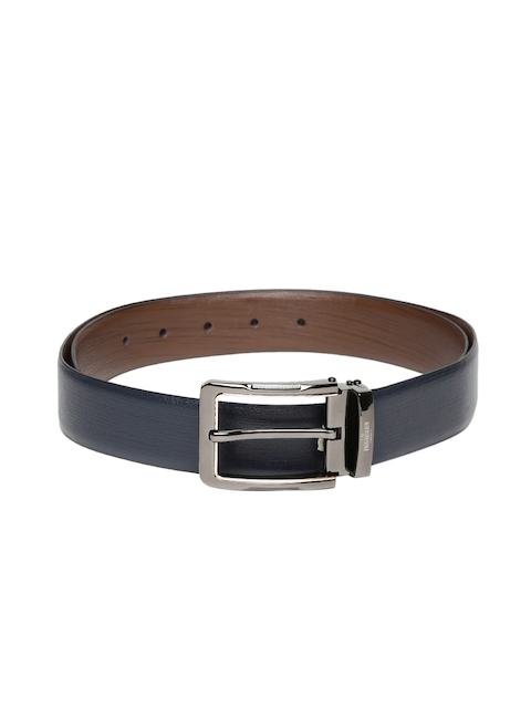 INVICTUS Men Navy & Brown Reversible Leather Belt