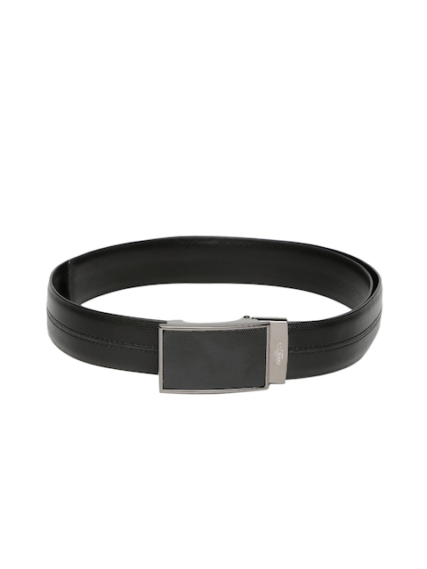 INVICTUS Men Black Reversible Leather Belt