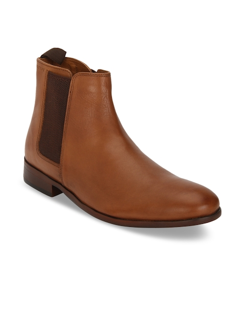 Red Tape Men Tan Brown Leather Formal Shoes