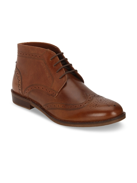 Red Tape Men Tan Brown Leather Formal Chukka Boots