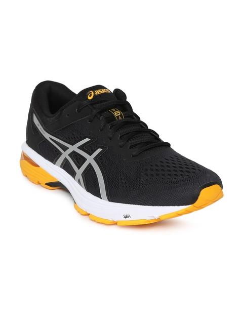 ASICS Men Black GT-1000 6 Running Shoes