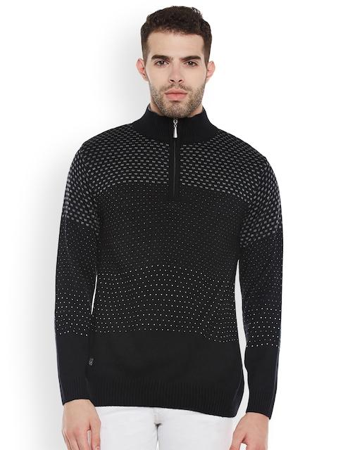 Duke Men Black Printed Pullover