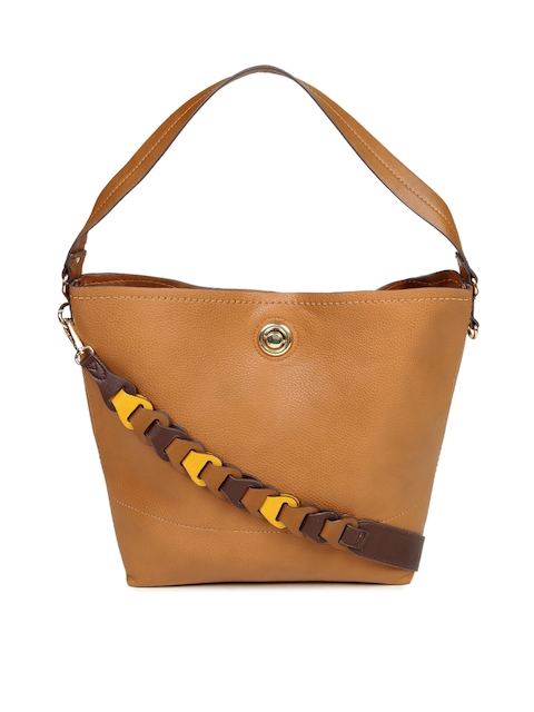 Accessorize Tan Brown Solid Hobo Bag