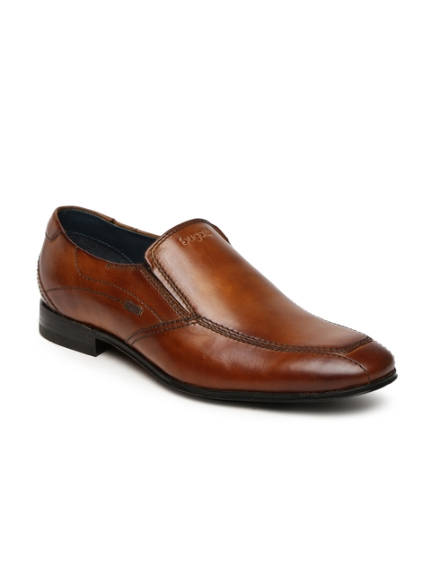Bigatti Men Brown Mattia Formal Slip-Ons
