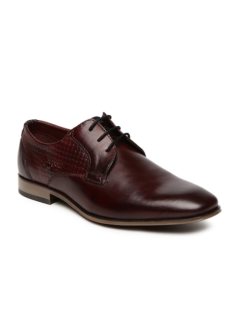 Bugatti Men Burgundy Mattia Derby Formal Shoes