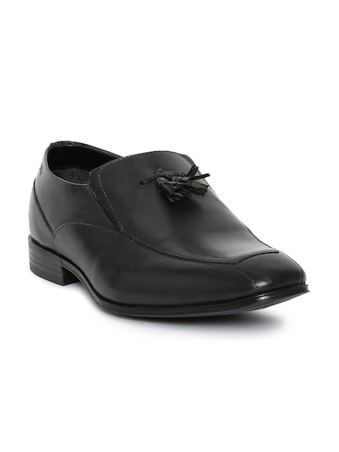 Bugatti Men Black Mattia Tassel Leather Slip-On Semiformal Shoes