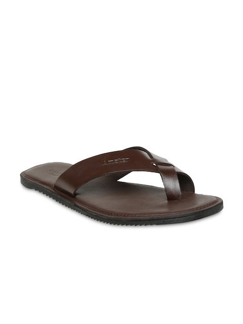 Amster Men Brown Genuine Leather Sandals