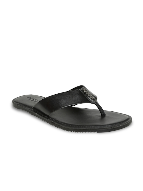 Amster Men Black Genuine Leather Sandals