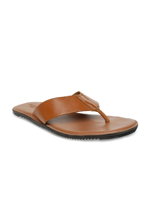 Amster Men Tan Brown Genuine Leather Sandals