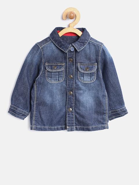 mothercare Boys Navy Comfort Fit Faded Denim Shirt