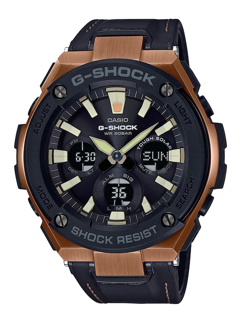 CASIO Men Black Analogue and Digital Watch G735