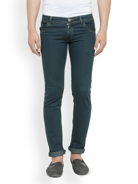 JAINISH Men Green Slim Fit Low-Rise Clean Look Jeans