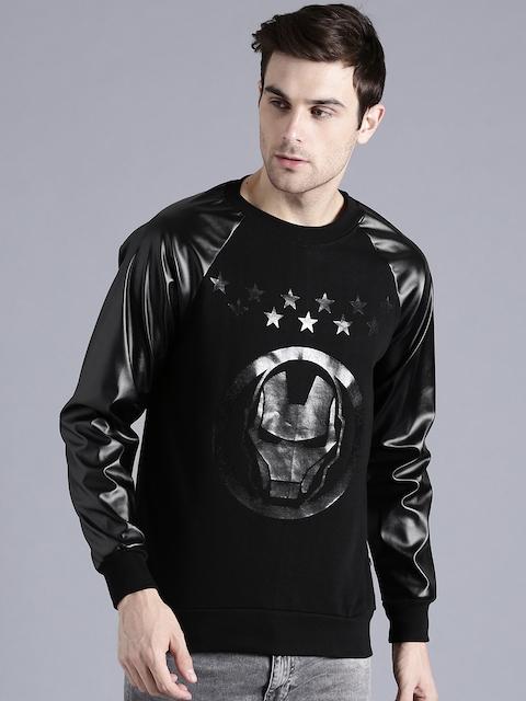 Kook N Keech Marvel Men Black Printed Sweatshirt