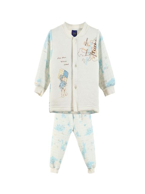 Lilliput Unisex Blue Printed Clothing Set
