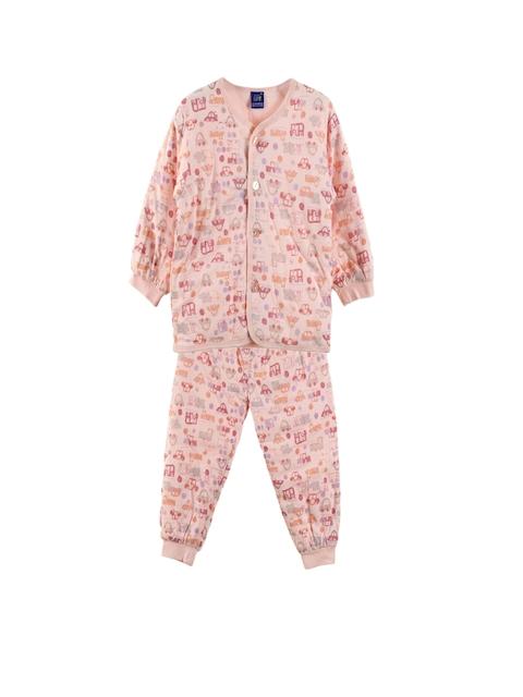 Lilliput Unisex Pink Printed Clothing Set