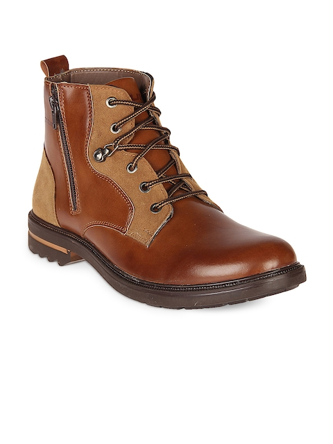 Duke Men Tan Flat Boots