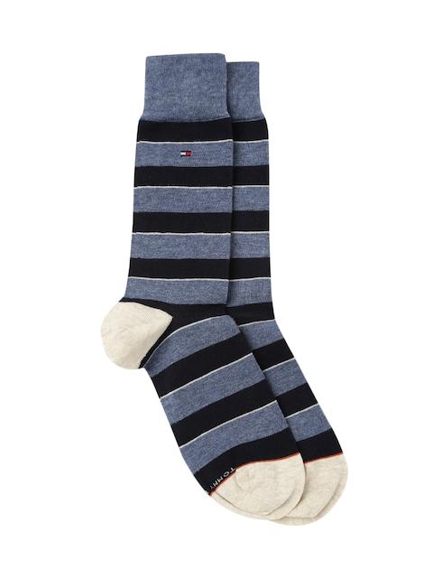 Tommy Hilfiger Men Blue Striped Socks A7CS5126