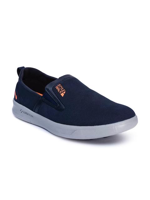 Campus Men Navy Blue Slip-On Sneakers