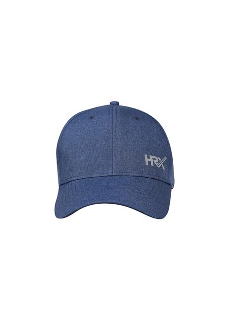 03a6ee0291a HRX by Hrithik Roshan Men Blue Solid Baseball Cap
