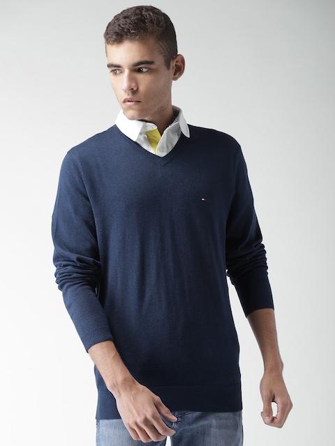 Tommy Hilfiger Men Blue Solid Pullover