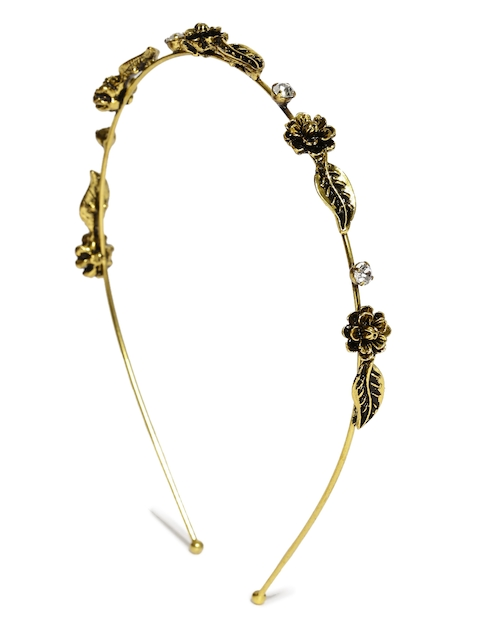 Rubans Antique Gold-Toned Floral Hairband