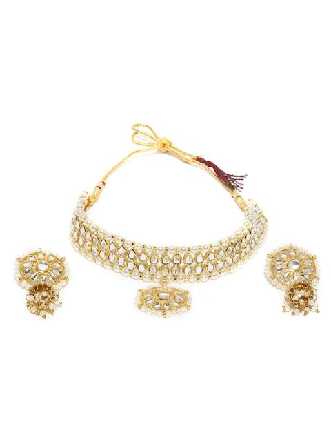 Rubans Gold-Toned Embellished Jewellery Set