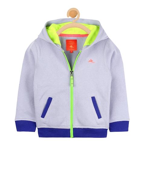 Cherry Crumble Kids Blue Solid Sweatshirt