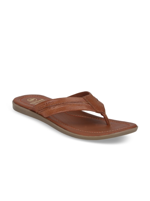 Red Tape Men Tan Brown Leather Sandals