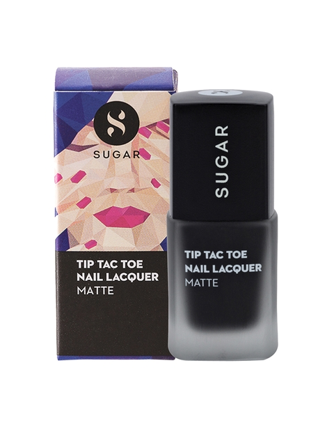 SUGAR Tip Tac Toe Matte Nail Lacquer - 031 Black In Business
