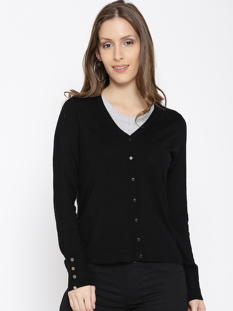 ONLY Women Black Solid Cardigan