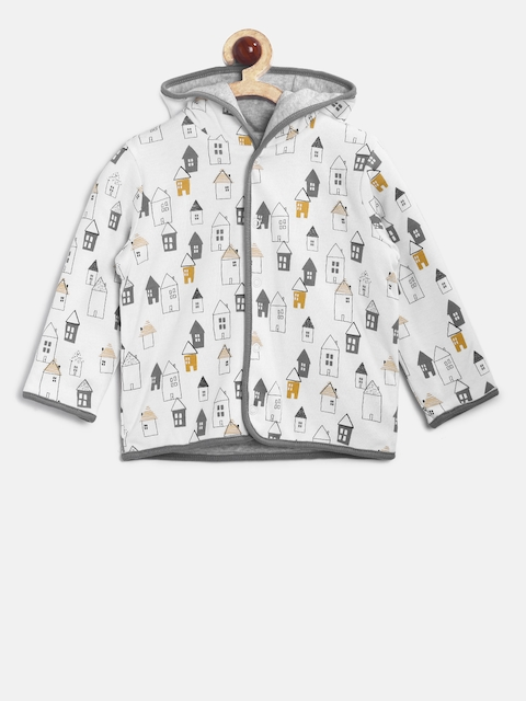 mothercare Kids White Printed Tailored Jacket