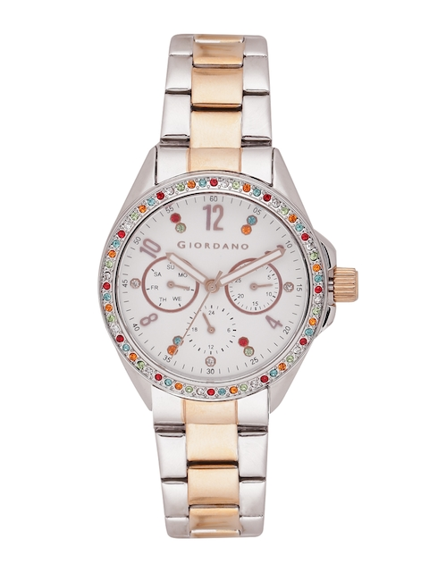 GIORDANO Women Off-White Analogue Watch A2002-55